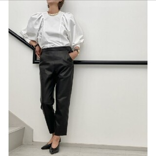 L'Appartement DEUXIEME CLASSE - 【RAW+/ロゥタス】Leather Cropped Pants◇36