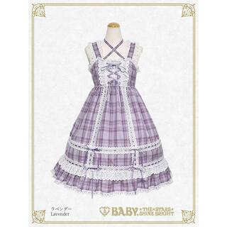 BABY,THE STARS SHINE BRIGHT - BABY タータンチェックベビードール&ヘッドドレス ラベンダー