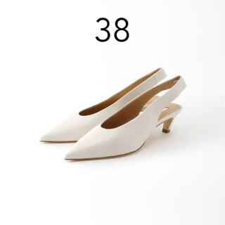 L'Appartement DEUXIEME CLASSE - 【BRENTA】Back Strap 4cm Heel Mule ホワイト 38