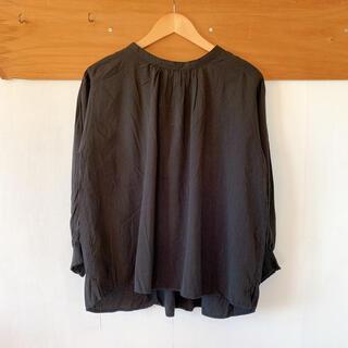 STUDIO CLIP - 袖がキュッとしたゆったりスリットブラウス