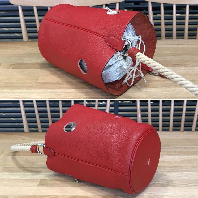 Hermes(エルメス)の超美品 エルメス マンジョワールTPM ハンドバッグ ルージュガランス 赤 レディースのバッグ(ハンドバッグ)の商品写真