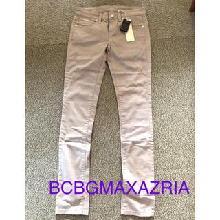 ビーシービージーマックスアズリア(BCBGMAXAZRIA)の断捨離セール 新品 未使用 BCBGMAXAZRIA スキニーデニム グレー(デニム/ジーンズ)