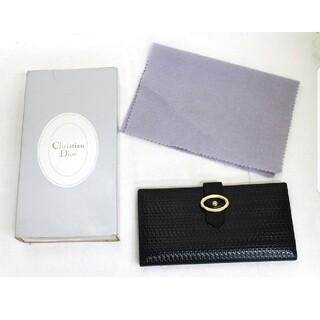 クリスチャンディオール(Christian Dior)のクリスチャンディオール 長財布 札入れ レザー ブラック 未使用(長財布)
