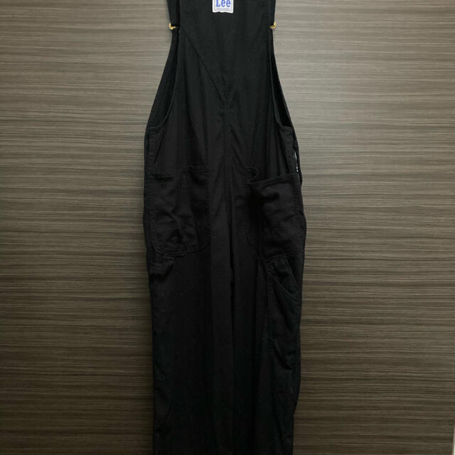 Lee オーバーオール ブラック M レディースのパンツ(サロペット/オーバーオール)の商品写真