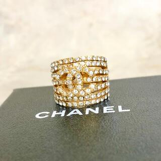 CHANEL - 正規品 シャネル 指輪 ゴールド ラインストーン ココマーク 金 リング ロゴ