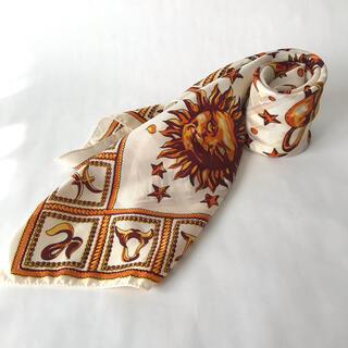 ロキエ(Lochie)の古着 太陽 月 星 ビンテージ スカーフ 19(バンダナ/スカーフ)