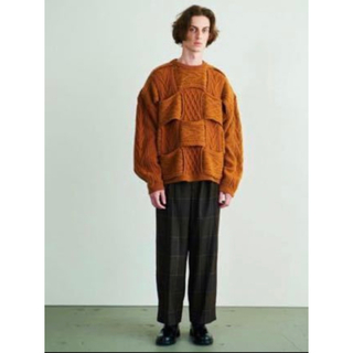 SUNSEA - 【YOKE】CROSSING CABLE NECK KNIT