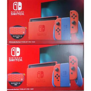 Nintendo Switch - 【新品・未使用】Nintendo switch 本体 マリオレッド×ブルー 2台