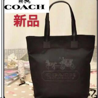 COACH - 新品 COACH コーチ ナイロン、レザートートバッグ