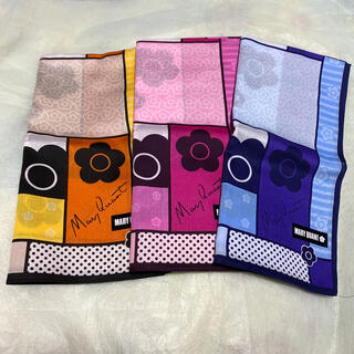 MARY QUANT - MARY QUANT❁⃘マリクワハンカチ色違い3枚セット