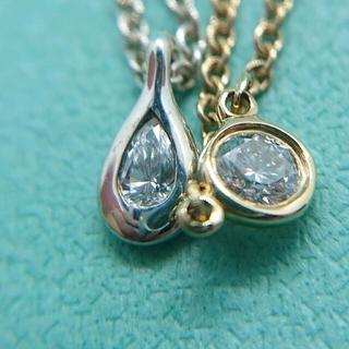 Tiffany & Co. - K18YG バイザヤードネックレス SV925 ペアシェイプネックレス 追加写真
