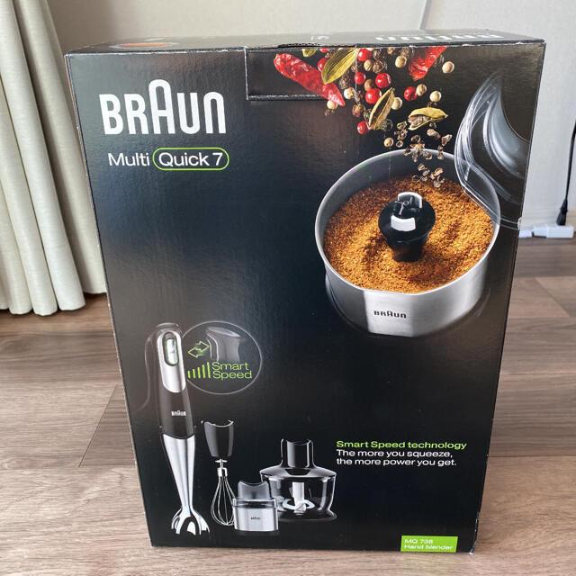 BRAUN(ブラウン)のブラウン マルチクイック7 ハンドブレンダー MQ738 スマホ/家電/カメラの調理家電(調理機器)の商品写真