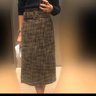 ミラオーウェン(Mila Owen)のミラオーウェン ツイードスカート(ひざ丈スカート)
