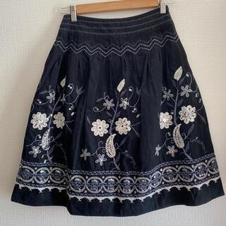 ロイスクレヨン(Lois CRAYON)のお値下げ ロイスクレヨン スパンコール スカート(ひざ丈スカート)
