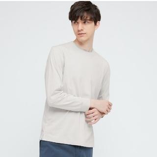 ユニクロ(UNIQLO)の【4XL】UNIQLO エアリズムコットンUVカットクルーネックT(長袖)(Tシャツ/カットソー(七分/長袖))