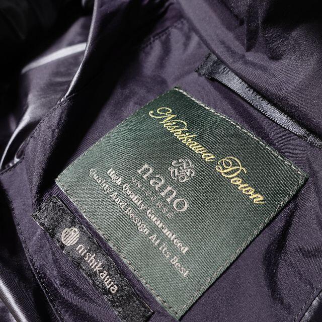 nano・universe(ナノユニバース)の■nano・universe 西川ダウン ブラック レディース 38 レディースのジャケット/アウター(ダウンジャケット)の商品写真