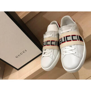 グッチ(Gucci)の値段交渉👌GUCCI グッチ ストライプ レザー スニーカー (スニーカー)