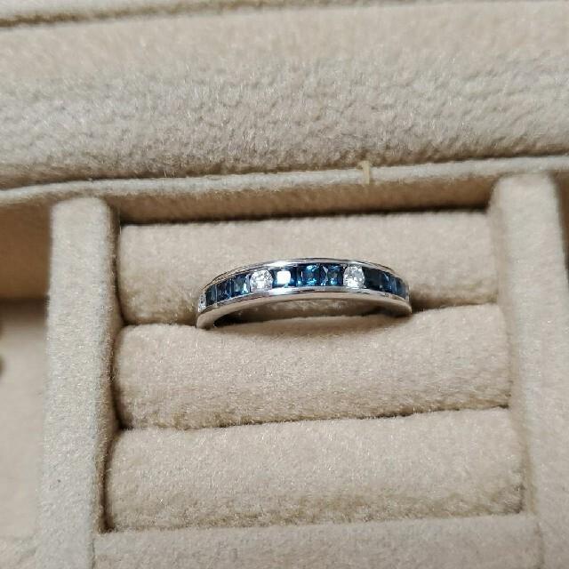 K18 ハーフエタニティ サファイア ダイヤ リング レディースのアクセサリー(リング(指輪))の商品写真