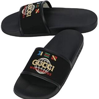 Gucci -  GUCCI サンダル WORLDWIDE NERO  BLACK 9 28