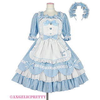 Angelic Pretty - アンジェリックプリティ  Heart CafeワンピースSet