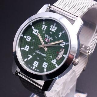 セイコー(SEIKO)の腕時計 SEIKO 5 セイコーファイブ 自動巻きグリーン アンティーク(腕時計(アナログ))