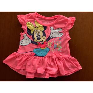 Disney - ミニーちゃん フリルTシャツ チュニック 24M