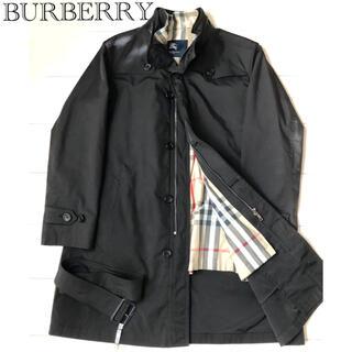 BURBERRY - バーバリー コート  ステンカラーコート  メンズ L  黒 ブラック