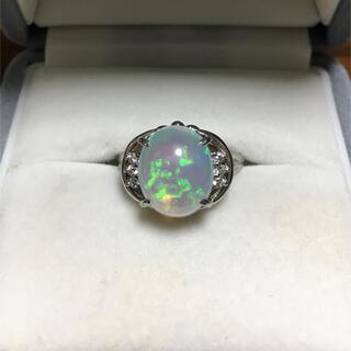 キョウセラ(京セラ)の京セラ クレサンベール 再結晶オパールリング Pt900 3.76ct 6.7g(リング(指輪))