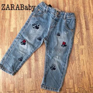 ZARA KIDS - 86 12-18 ZARA ZARA Baby Disney ミニー デニム