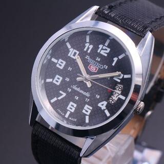 セイコー(SEIKO)の腕時計 SEIKO 5 セイコーファイブ 自動巻き黒文字盤 ヴィンテージ(腕時計(アナログ))