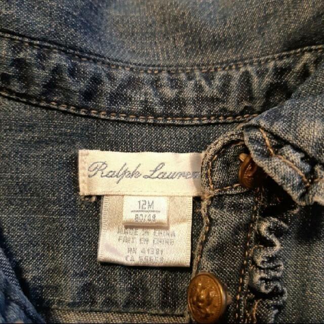 Ralph Lauren(ラルフローレン)のラルフローレン ワンピース80cm キッズ/ベビー/マタニティのベビー服(~85cm)(ワンピース)の商品写真