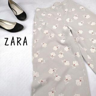 アルチュザラ(Altuzarra)の【スペイン製 ZARA】ガウチョパンツワイドパンツ 和柄 花柄アースカラー(バギーパンツ)