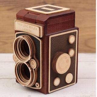 カルディ(KALDI)のKALDI レフレックスカメラ木箱 ブラウン カメラチョコ ホワイトデー(菓子/デザート)