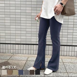 神戸レタス - 神戸レタス サイドスリットフレアリブパンツ