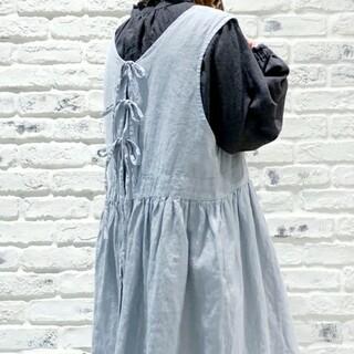 SM2 - SM2サマンサモスモス 【Slow Linen】バックリボンジャンスカ ミント