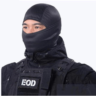 【ブラック】フェイスマスク 3wayマスク ネックウォーマー  目出し帽