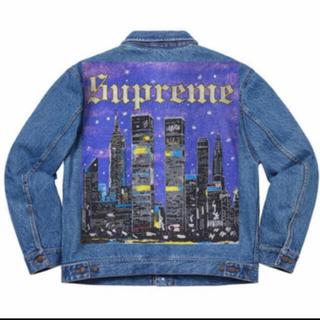 シュプリーム(Supreme)のSupreme New York Painted Trucker Jacket(Gジャン/デニムジャケット)