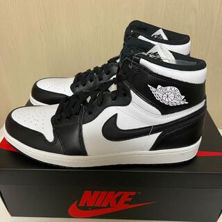 ナイキ(NIKE)の28cm Nike air Jordan 1 black white (シューズ)