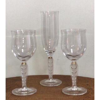 [新品未使用]  HOYA クリスタル ペアワイングラスとシャンパングラス(グラス/カップ)