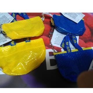 IKEA - IKEAフラクタバッグキーホルダー*黄色+青色クノーリグブルーバッグミニ4個入