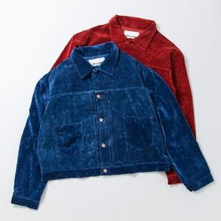 Story mfg. sundae jacket 19aw ベロア ネイビー