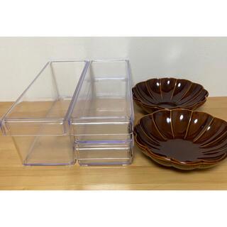 ニトリ(ニトリ)のニトリ 冷蔵庫用 トレー クリア ケース 和皿 食器 5点 セット(食器)