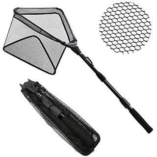 玉網 タモ網 折りたたみ式 グラス繊維 伸縮式 調節可能 玉の柄 釣りネット 釣