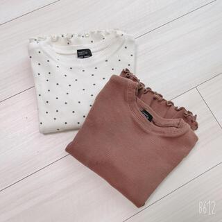 petit main - 2枚 110 プティマインロンT トップスカットソー春服
