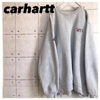 carhartt - carharttカーハート•スウェット•刺繍•ワンポイント•グレー•トレーナー