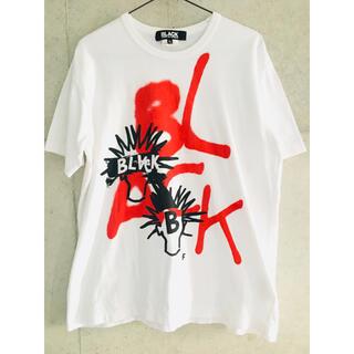 ブラックコムデギャルソン(BLACK COMME des GARCONS)の【名作★メンズXL】ブラックコムデギャルソン スプレー Tシャツ 1Q-T003(Tシャツ/カットソー(半袖/袖なし))
