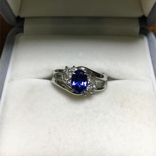 キョウセラ(京セラ)の京セラ クレサンベール 再結晶サファイア リング Pt900 1.03ct(リング(指輪))