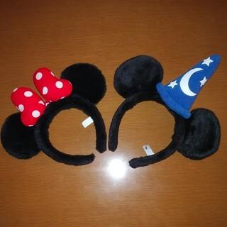 ディズニー(Disney)のディズニーカチューシャ、ミッキーミニーセット。(小道具)