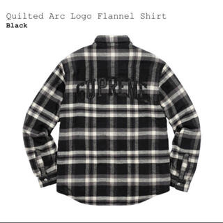 Supreme - supreme quilted arc logo flannel shirt
