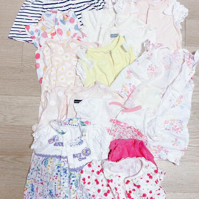 ANNA SUI mini(アナスイミニ)のベビーロンパース 夏服60-70cm 冬服80cm キッズ/ベビー/マタニティのベビー服(~85cm)(ロンパース)の商品写真